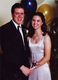 Matt and me at our high school prom
