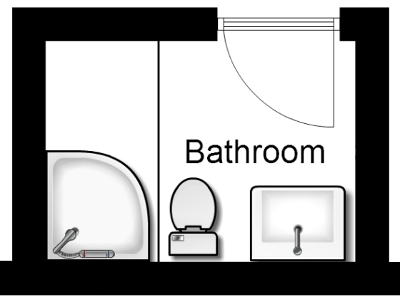 Basement bathroom floorplan