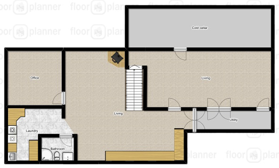 Basement floor plan before
