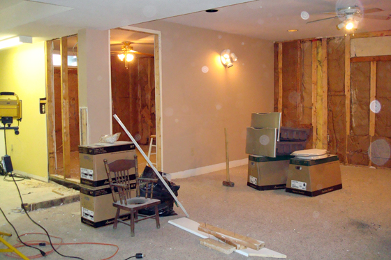 Basement demo in progress