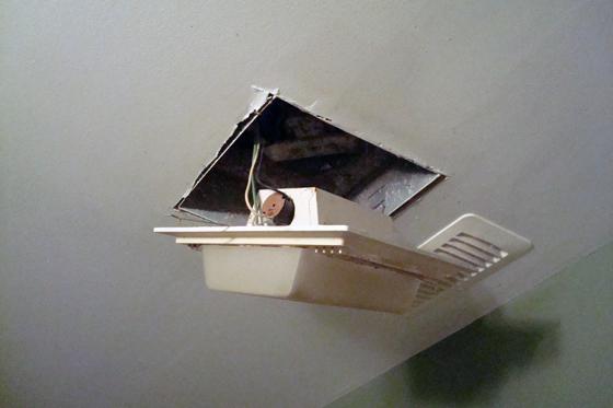 Broken exhaust fan