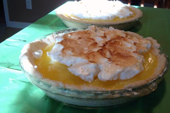 Mom's lemon meringue pies