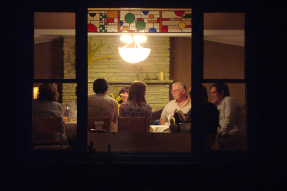 Family gathered around the table