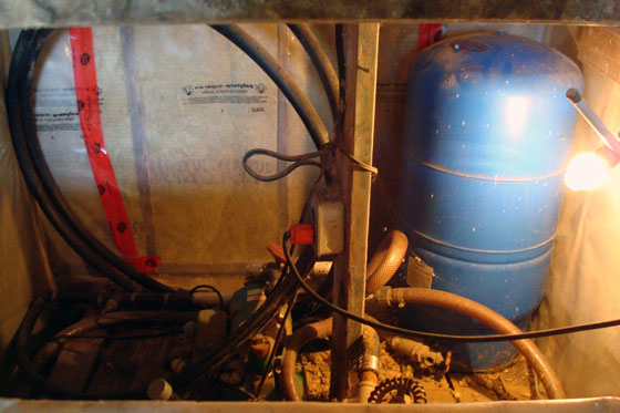 Old pressure tank and jet pump