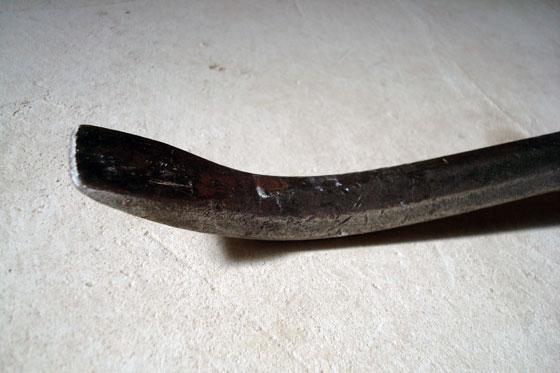Wrecking bar chisel end