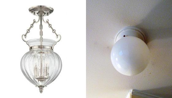 Barn Light Electric Halstead Semi-Flush Ceiling Light