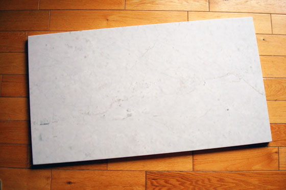 Marble slab for shower seat