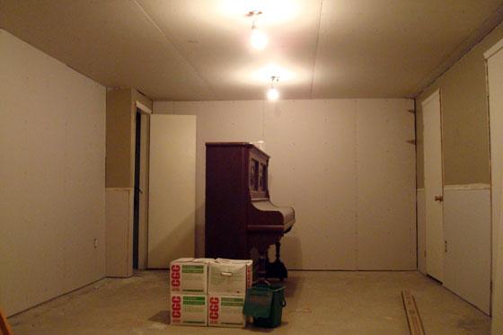 Untaped drywall