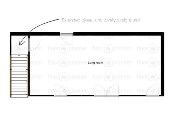 Floorplan for extending a closet