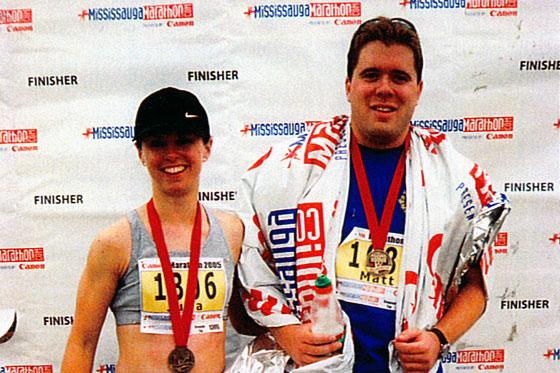 Matt and I post marathon