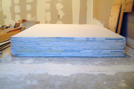 Stack of drywall