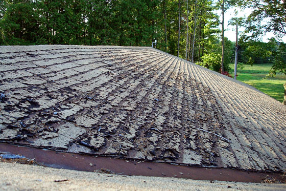 Shingles in need of replacement