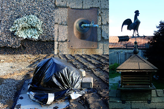 Collage of roof images