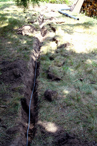 Wire in a trench