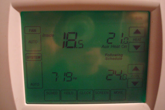 Thermostat screen