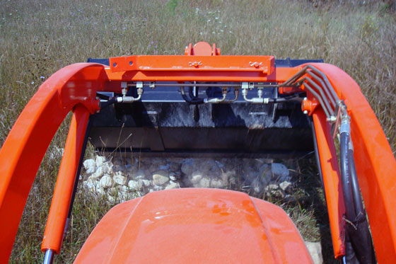 Dumping a front-end loader