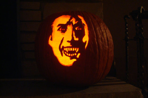 Dracula pumpkin carving