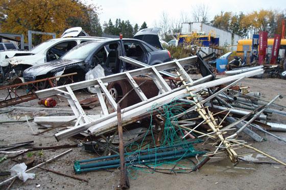 Scrap metal in the junkyard