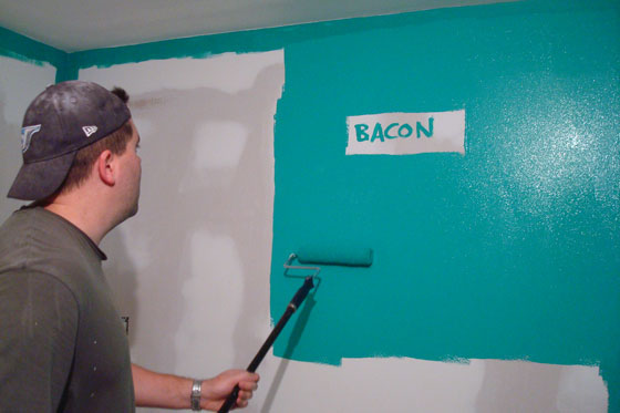 Painting green walls