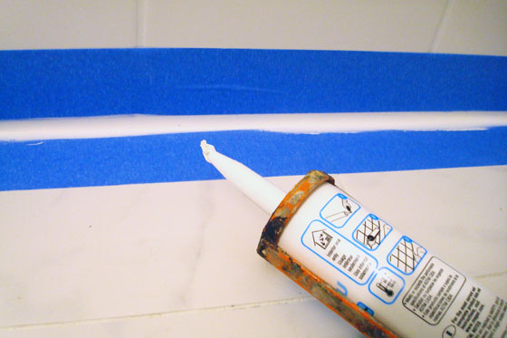 Caulking with painters tape