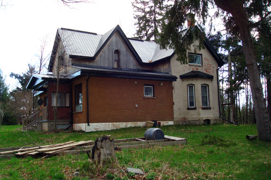 Poorly renovated farm house