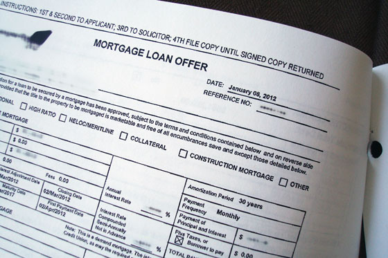 Mortgage Loan Offer paperwork