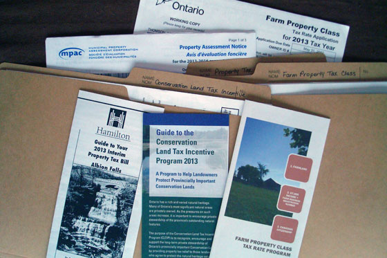 Farm property tax paperwork