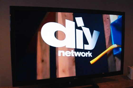 50 inch LG LED TV with DIY network on the screen