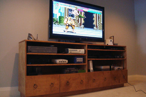 TV Cabinet For Vintage Video Game Systems