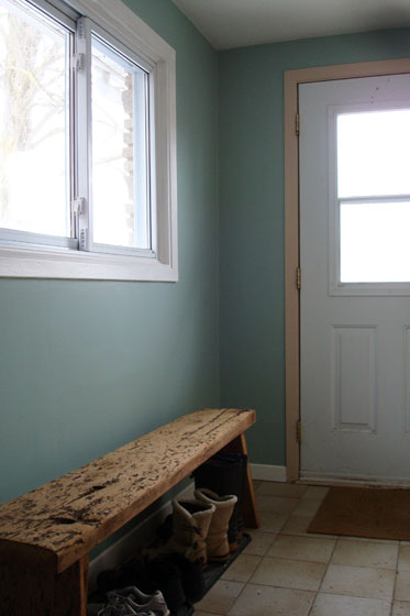 Mudroom painted Wythe Blue by Benjamin Moore