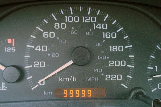 Odometre at 99,999