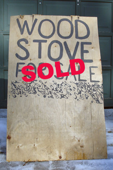 Wood stove sold