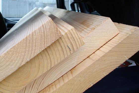 Squared edges on lumber
