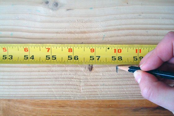 Measuring and marking lumber