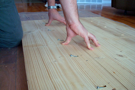 Connecting boards for a wood countertop