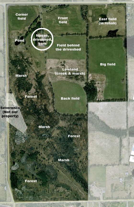 Bird s eye view home on 129 acres for 2 acre farm layout
