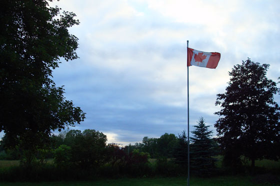 Canada Flag at dawn