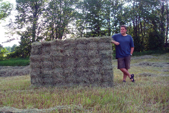 Large rectangle hay bale