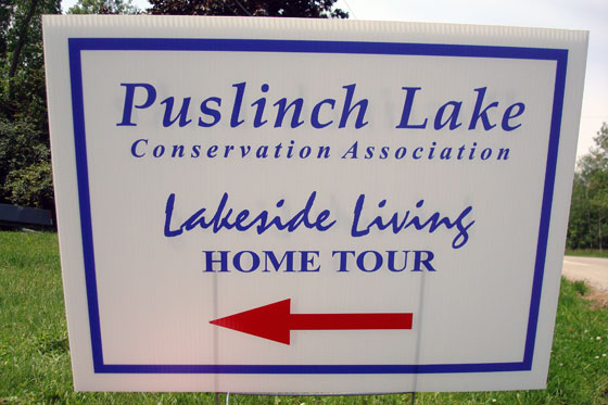 Sign for Lakeside Living Home Tour