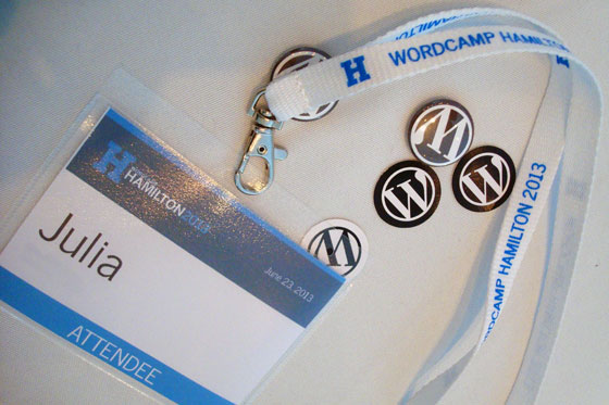 Word Camp name badge