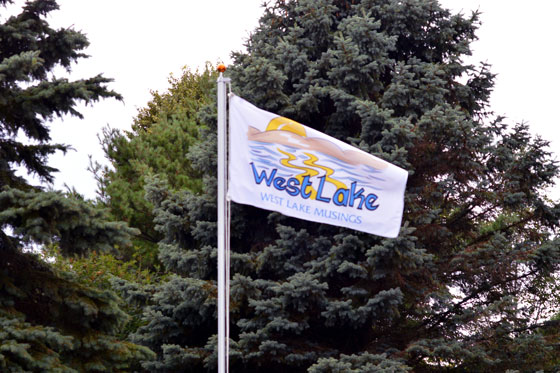 Custom made West Lake Musings Flag