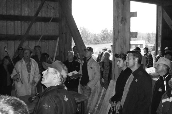Auction in a barn