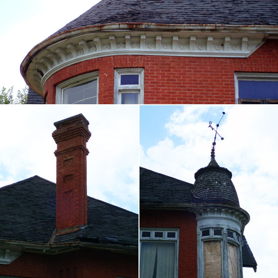 Details on a historic brick house