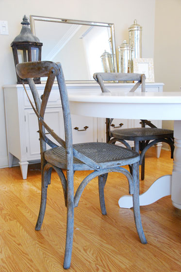 Rambling Renovators cross back dining chairs