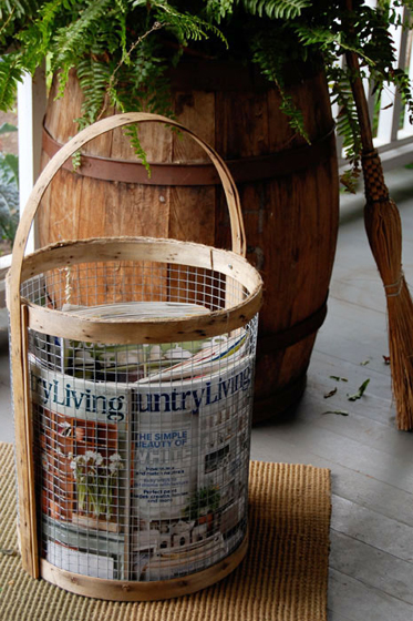Rustic basket inspired by Country Living via The Art of Doing Stuff