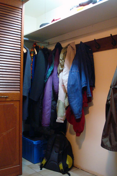 Closet with different storage options