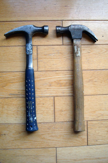 Hammers comparison: Estwing versus basic wood handled hammer