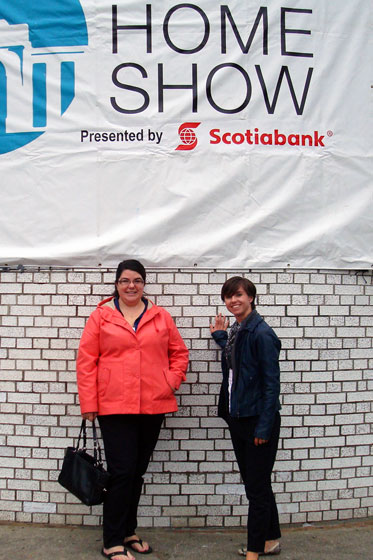 Catherine and I at the fall homeshow in Toronto