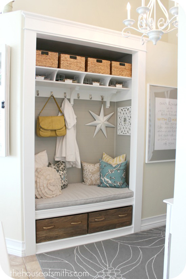 House of Smiths entryway closet makerover