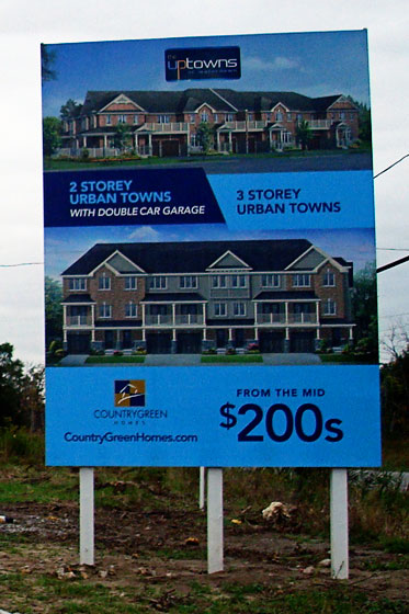 SIgns for a housing development